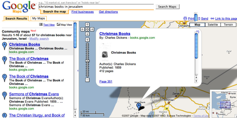 Book Results in Google Maps