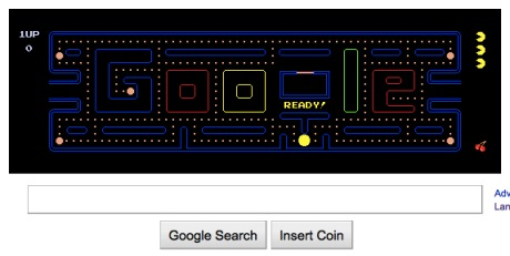 Googles Playable Pac Man Logo